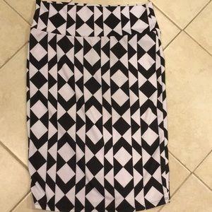 LuLaRoe Skirts - Lularoe Black and White Knee Length Skirt